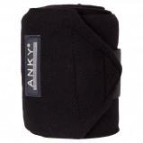 Afbeelding van Anky Bandages Basic Fleece Set van 4 Zwart 3,5m