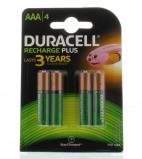 Afbeelding van Batterij oplaadbaar Duracell 4xAAA 750mAh Plus Oplaadbare Batterijen