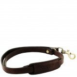 Image de Adjustable briefcases leather shoulder strap Dark Brown