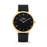 Afbeelding van Colori 5 COL440 Horloge Phantom staal/leder goudkleurig zwart 42 mm