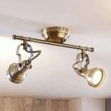 Afbeelding van 2 lamps LED wandlamp Perseas, Lampenwelt.com, voor woon / eetkamer, metaal, GU10, 5 W, energie efficiëntie: A+, L: 31 cm, B: 9.7 cm, H: 15 cm