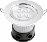 Afbeelding van Konstmide led spot plafondinbouwspot met power led's, aluminium, kunststof, 1 W, energie efficiëntie: A+