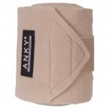 Afbeelding van Anky Bandages Basic Fleece Set van 4 Sand 3,5m