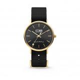 Afbeelding van CO88 8CW 10019 Horloge staal/nylon 36 mm goud/zwart
