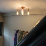 Image of Art Deco Ceiling Lamp 4 Copper Facil