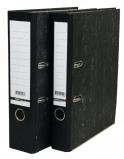 Afbeelding van Ordner budget a4 50mm karton zwart gewolkt