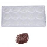 Afbeelding van Bonbonvorm Chocolate World Blad (15x) 49x36x13 mm