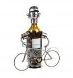 Afbeelding van Out of the Blue wijnstandaard metaal wielrenner
