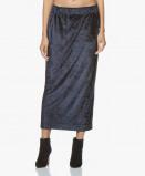 Bilde av BRAEZ Midi Skirt Navy Skulie Velvet