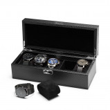 Bilde av Watchbox Deluxe Carbon Look, suitable for 5 watches.
