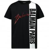 Afbeelding van Balmain 6l8521 Kinder T Shirt Zwart