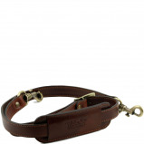 Imagine din Adjustable leather shoulder strap Brown