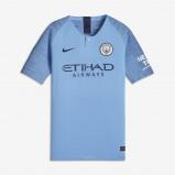 Kép: 2018/19 Manchester City FC Vapor Match Home Older Kids' Football Shirt - Blue