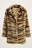 Afbeelding van Beige fake fur jas zebra, faux