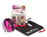 Afbeelding van Alpine Muffy gehoorbescherming voor kinderen Roze met beschermtasje oorbeschermers vliegshow