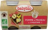 Afbeelding van Babybio Dessert Appel Pruim 4 Maanden 130 gram, 2x130 gram