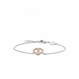 Image of TI SENTO Milano Bracelet Pink Silver Rose Gold Plated 2900ZR