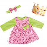 Afbeelding van Bayer kledingset Birthday 46 cm roze/groen 3 delig