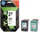 Afbeelding van HP 350+351 (SD412EE) Inktcartridge Zwart + 3 kleuren Voordeelbundel