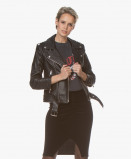 Immagine di Anine Bing Jack Zwart Cropped Leather Moto
