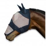 Afbeelding van Chetaime FlyMask met oren en afritsbare neus Zwart/Beige M