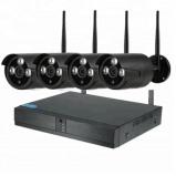 Afbeelding van Beveiligingscamera set met 4x Wifi Bullit Camera's Zwart