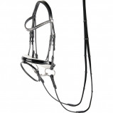 Abbildung von Harry's Horse Klassischer runder Zaum (Farbe: schwarz, Maßgeschneidertes Pferd: Cob)