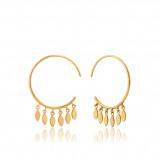 Afbeelding van Ania Haie 925 Sterling Zilveren Goudkleurige All Ears Oorbellen AH E008 05G