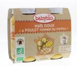 Afbeelding van Babybio Groenten Kip 8 Maanden 200 gram, 2x200 gram