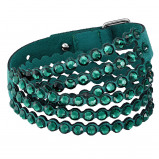 Afbeelding van Swarovski 5511700 Armband SwaPower Slake Emeraldgroen 40 42 cm