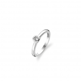 Image of TI SENTO Milano Ring White Silver Plated 1868ZI