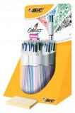 Afbeelding van Balpen Bic 4kleuren Shine Zilver/paars/roze/blauw Displ À 20