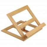 Afbeelding van Decopatent Luxe boekenstandaard van bamboe hout Boekenhouder voor o.a. kookboek