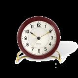 Image of Arne Jacobsen Station Table Clock  Bordaux/White (43676)