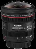 Afbeelding van Canon EF 8 15mm f/4L Fisheye USM