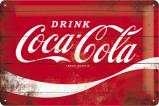 Afbeelding van Coca Cola Logo Rood Metalen Wandplaat 30x20cm Wandplaten