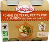 Afbeelding van Babybio Groenten Ham 8 Maanden 200 gram, 2x200 gram