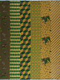 Zdjęcie Vlisco VL01471.022.02 Green/Yellow African print fabric Limited Editions Geometrical