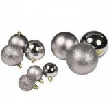 Afbeelding van Lifetime Kerstballen set in Tas 77 ballen Plastic / Kunststof Zilver