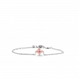 Image of TI SENTO Milano Bracelet Pink Silver Rose Gold Plated 2912NU