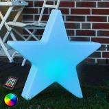 Afbeelding van 8 Seasons decoratieve LED ster Shining Star 80 cm, polyethyleen, energie efficiëntie: A