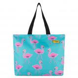 Afbeelding van BHPPY Strandtas Go Flamingo Reistassen zonder wielen