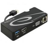 Afbeelding van USB 3.0 naar HDMI/VGA/RJ45/USB3.0 adapter Delock