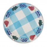 Afbeelding van Boerenbont & bonter bord plat 25,5 cm blauwe ruit