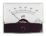 Afbeelding van Drehspul Einbauinstrument m.Spiegelskala 0 100uA DC Dynavox
