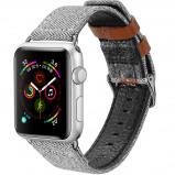 Abbildung von Apple Watch 40 mm: Dux Ducis Canvas Band Grau