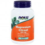 Afbeelding van NOW Magnesium citraat 200 mg (100 tabletten)