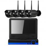 Afbeelding van Beveiligingscamera set 4x Wifi Bullit Camera's met 10.1Inch Scherm