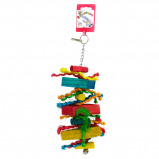Obrázek Birdeeez Parakeet Toy Wood Straight 25cm