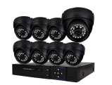 Afbeelding van Beveiligingscamera set met 8x bekabelde Dome Camera's